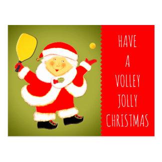 Pickleball Christmas Postcard