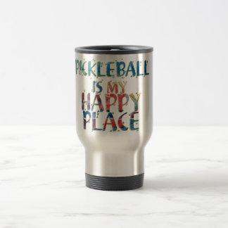Pickleball Happy Place Travel Mug