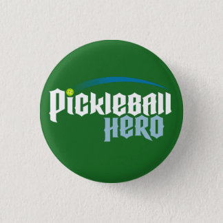 """Pickleball Hero"" Logo Button (green)"
