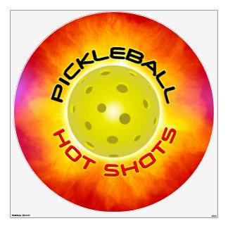 Pickleball Hot Shots 1 Options Wall Sticker