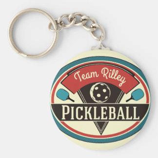 Pickleball Key Chain - Vintage Design