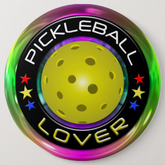 Pickleball Lover 1 Options 6 Inch Round Button