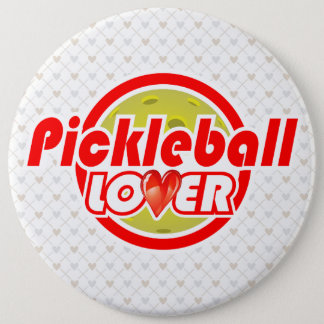 Pickleball Lover 2-2B Image Options 6 Inch Round Button