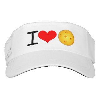 "Pickleball Mom Visor: ""I Love Pickleball"" (woven) Visor"