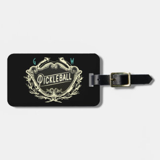 Pickleball Mongrammed ID Luggage Tag