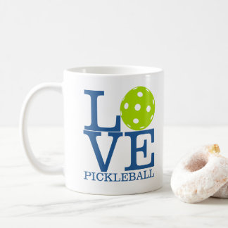 "Pickleball Mug: ""LOVE PICKLEBALL"" Coffee Mug"