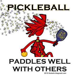 Pickleball Paddles Well With Others Photo Sculpture Ornament