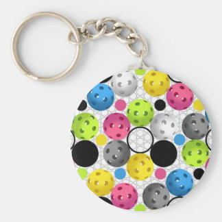 Pickleball Print Keychain