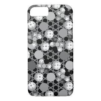 Pickleball print, Neon Green, Blue, Black Case-Mate iPhone Case