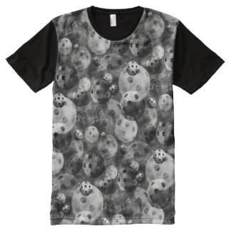 Pickleball Shades of Gray Pattern All-Over-Print T-Shirt