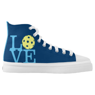 Pickleball Shoes: LOVE (Blue) High Tops