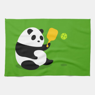 "Pickleball Sports Towel: ""Pickleball Panda"" Kitchen Towel"