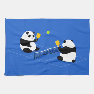 "Pickleball Sports Towel: ""Pickleball Pandas"" Hand Towel"