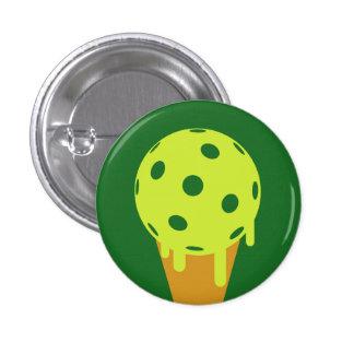 Pickleball Summer Ice Cream Cone Button (Green)