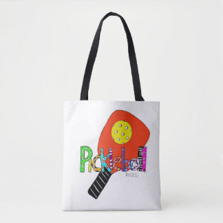 Pickleball Tote bag women pickle ball