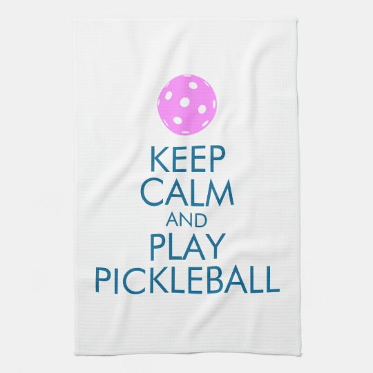 "Pickleball Towel ""Keep Calm and Play Pickleball"""