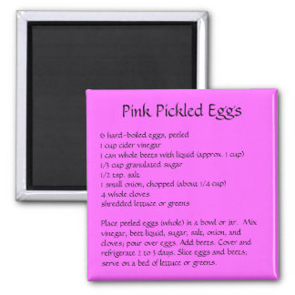 Pickled Egg Recipe on a Refrigerator Magnet