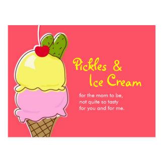 Pickles and Ice Cream Postcard Invitations