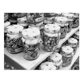 Pickles and Sweets in Jars postcard