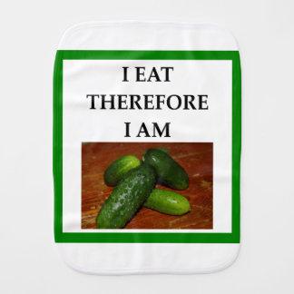 pickles burp cloth