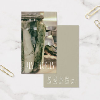 Pickles Canned Cucumbers  Fresh Veggies Business Card