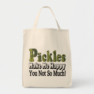 Pickles Make Me Happy Tote Bag