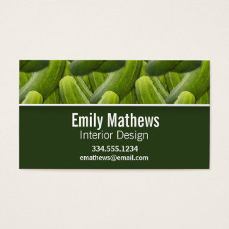 Pickles; Pickle Pattern Business Card