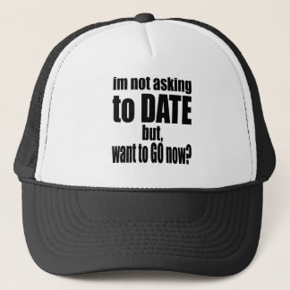 pickup line asking date black awesome party couple trucker hat