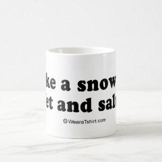 """PICKUP LINES - """"I'm like a snowflake: Wet and Salt Coffee Mug"""