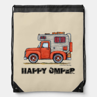 Pickup Truck Camper RV Apparel Drawstring Bag