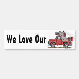 Pickup Truck Camper RV Bumper Sticker