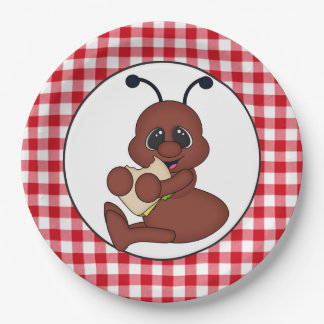 Picnic ant party paper plate