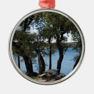 Picnic at the Lake Metal Ornament