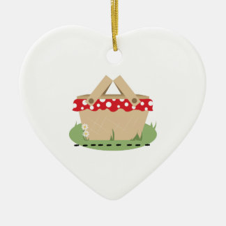 Picnic Basket Ceramic Ornament