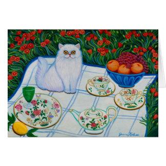 Picnic Cat Card