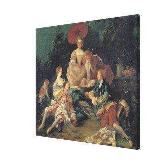 Picnic in a Park Stretched Canvas Prints