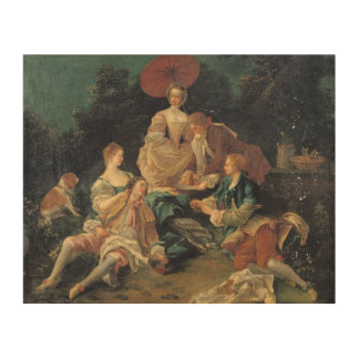 Picnic in a Park Wood Canvases