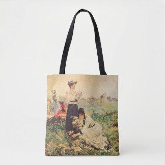 Picnic in Normandy by Juan Luna. Tote Bag