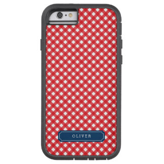 Picnic Red Gingham Personalize with Name Tough Xtreme iPhone 6 Case