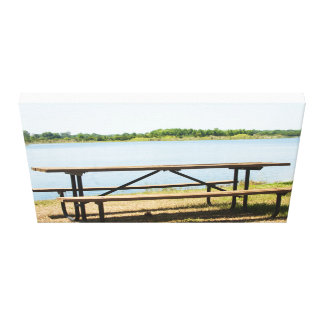 Picnic Table Canvas Print