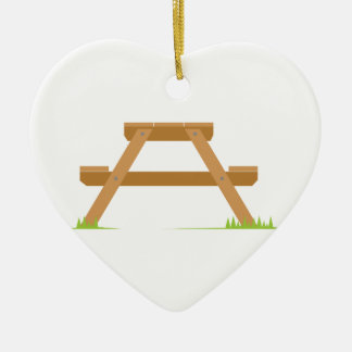 Picnic Table Ceramic Ornament