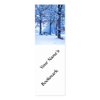 Picnic Table in Winter Double-Sided Mini Business Cards (Pack Of 20)