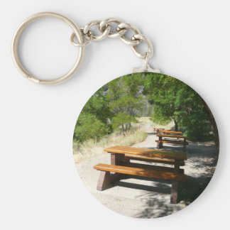 Picnic Tables in the Park Keychain
