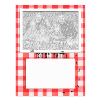 Picnic Theme Invitation Template Postcard