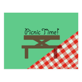 picnic time postcard