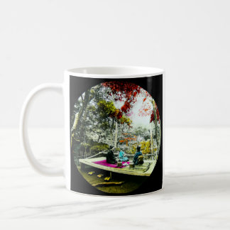 Picnic Under the Maple Leaves Vintage Old Japan Coffee Mug