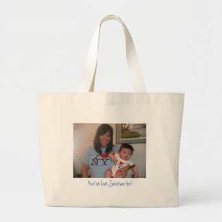 PICT0027, And we love Samchun too! Large Tote Bag