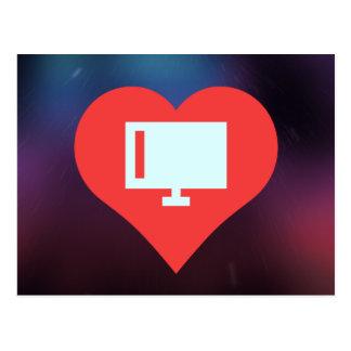 Pictogramme de télévisions d'écran plat carte postale