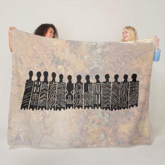 Pictographs - Casa Pintada, Sonora, Mexico Fleece Blanket