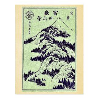 Pictorial for Hokusais 36 views of Mount Fuji Postcard
